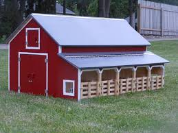 wooden toy barns and buildings
