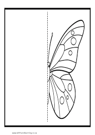 Printable Symmetry Drawings | Left-hand Learning