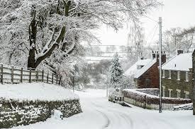 Ainthorpe Village Snow Scenes Danby North York Moors A5 Christmas