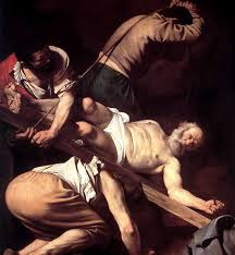 the crucifixion of st peter church of santa maria del popolo
