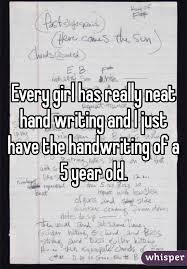 Handwriting 5 year old