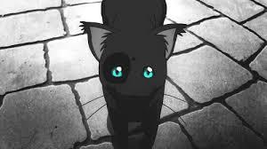 black cat with blue eyes anime. White Cat Blue Eyes Tumblr Anime Kitten Black Animated GIF On With