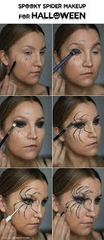 easy spider makeup for all you need is black and white eyeliner black eyeshadow and a mascara
