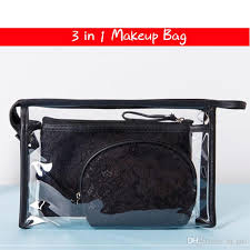 designer makeup bag pvc lace cosmetic bag set clear transpa zipper brushes organizer storage case bags boots cosmetics from la