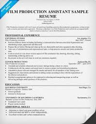 film resume samples film production resume resumecompanion com resume samples across