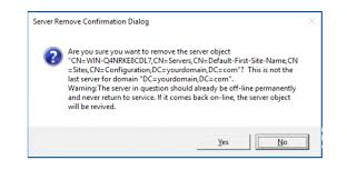 How To Remove Failed Dcs From Active Directory Domain In