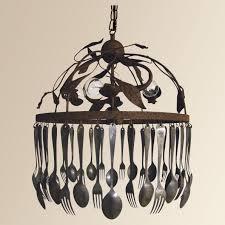 vintage spoon chandelier spoon and fork chandelier arhaus furniture 699