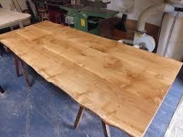 handmade solid oak extending dining table. handmade 3 board solid oak table extending dining