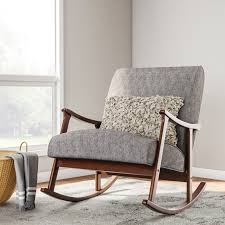 padded rocking chair. Fine Chair Shop Carson Carrington Granite Grey Fabric Mid Century Wooden Rocking Chair   Free Shipping Today Overstockcom 9371382 And Padded C