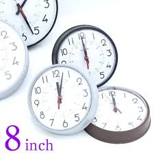 8 wall clock made in instrument company 1 4 a 8 wall clock 8 inch wall