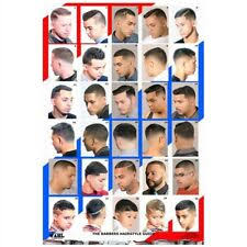 Barber Hairstyles Chart 24 X 36 Barber Shop Salon Modern Hair Cut Styling For Men