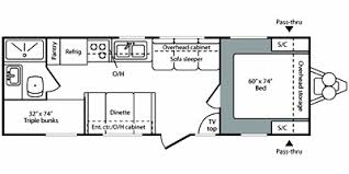 2008 keystone hideout 27b trailer reviews prices and specs rv 2008 keystone hideout 27b floorplan view floorplan