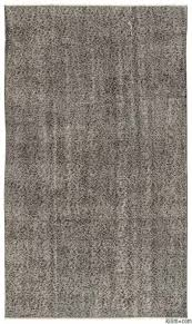 grey over dyed turkish vintage rug 5 6 x 9