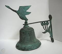 vintage brass dinner bell post or wall