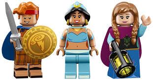 lego s latest disney minifigures include frozen s anna and elsa and aladdin s jasmine