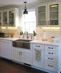 lighting kitchen sink kitchen traditional. Kitchen Sink Lighting Apron Back Splash Love The Dark Wood Floors With Two Colors . Traditional