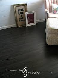 my 3 monsters 31 days to a brand new room day 6 vinyl plank flooring diy 31days