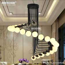 modern chandelier lighting loft industrial lights bar stair dining room retro chandeliers lamps fixtures crystal suspension designs