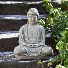garden buddha. Campania International Small Temple Buddha Cast Stone Garden Statue - About InternationalEstablished In 1984, T