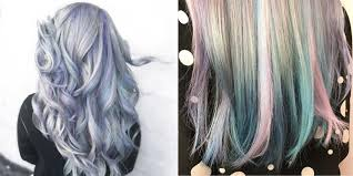 holographic hair trend why it s the pastel rainbow colour trend we re on board with