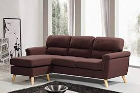 modern fabric sectional sofas. Wonderful Sofas Harperu0026Bright Designs Modern Linen Fabric Sectional Sofa L Shape Couch With  Reversible Chaise Loung Brown In Sofas R