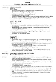 Mail Clerk Resume Samples Velvet Jobs