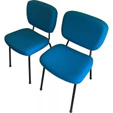 pair of cm196 chairs by pierre paulin for thonet 1960