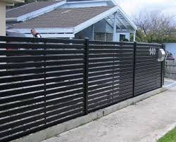Metal fence design Architectural Metal Privacy Fence With Horizontal Slat Fencingaluminium Slat Screensslat Fencing Melbourne Quanzhou Yihai Metal Technology Co Ltd Metal Privacy Fence With Horizontal Slat Fencingaluminium Slat