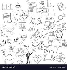 Hand Draw Doodle Web Charts Business Finanse