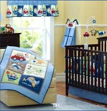 dinosaur baby bedding baby bedding cotton embroidery dinosaur rockets submarine car baby crib bedding set quilt per bed