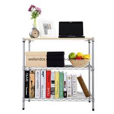 china diy 3 tier home kitchen storage rack utility wooden top office display shelf china home storage rack home office rack