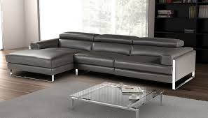 romeo italian dark gray leather reclining modern sectionals