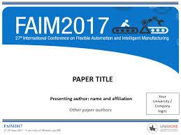 Prepare Your Presentation Faim 2017 27th International