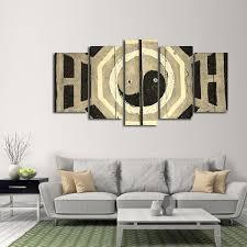 on yin yang canvas wall art with graffiti yin yang multi panel canvas wall art elephantstock