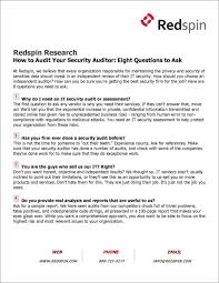 Questions To Ask On Work Experience 8 Questions To Ask Your Security Auditor Professional