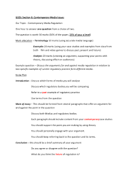regulation section b essay plan
