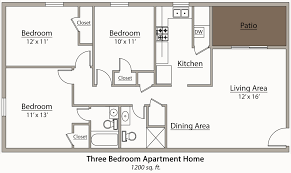 High Quality Full Size Of Bedroom:splendid Flat Plans Three Bedrooms Photos Ideas  Apartments One Bedroom Building ...