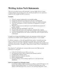 Fantastic Resume Power Verbs Photos Documentation Template