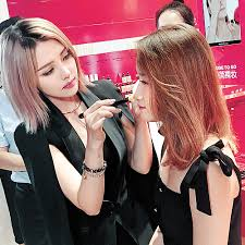 pony working as a makeup artist at a beauty event in china pony s makeup insram