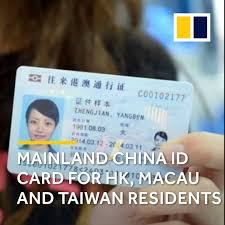 Mainland Macau Residents Id Facebook And Taiwan Hk Card China For