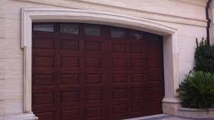 modern design solid wood garage door for villas