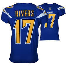 17 Chargers Cleveland - Game-used Los Browns 2017 Vs 3 Royal Angeles December 44 Jersey Blue Size Philip Rivers On