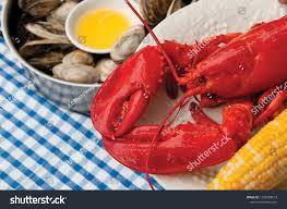 Maine Lobster Dinner Stock Photo (Edit ...
