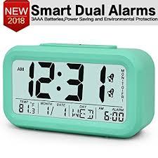 TXL Large Digital Alarm Clock LCD Student Electronic Clock Snooze Sensor  Kids Table Clock Bedroom Clock