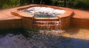 inground pools with waterfalls and hot tubs. Hot Tub Waterfall Inground Pools With Waterfalls And Tubs