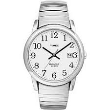 timex men s watches kmart timex mens watch white dial and silver expansion band