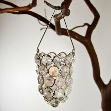 crystal hanging candle holder