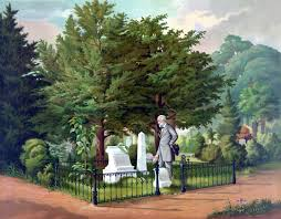 vintage civil war color painting of general robert e lee visiting the grave of general thomas stonewall jackson poster print com