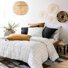 mirni printed washed cotton duvet cover
