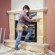 wood frame mantel